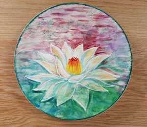 Frisco Lotus Flower Plate