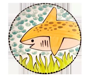 Frisco Happy Shark Plate