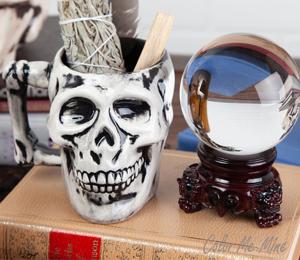 Frisco Antiqued Skull Mug
