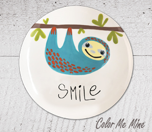Frisco Sloth Smile Plate
