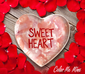 Frisco Candy Heart Plate