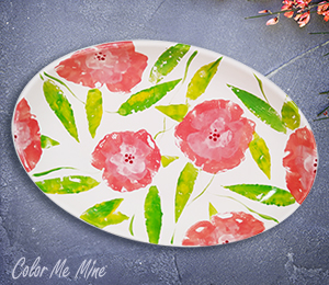 Plano Floral Paper Stamping