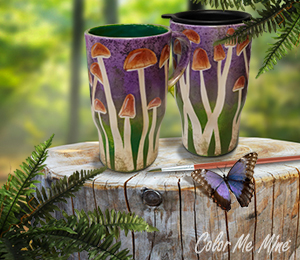 Plano Mushroom Mugs