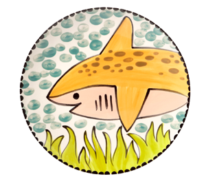 Plano Happy Shark Plate