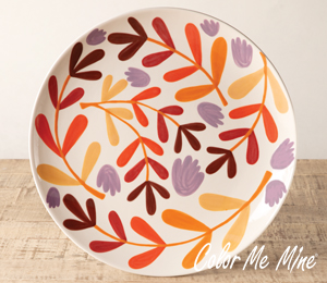 Plano Fall Floral Charger