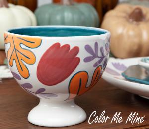 Plano Floral Pedestal Bowl