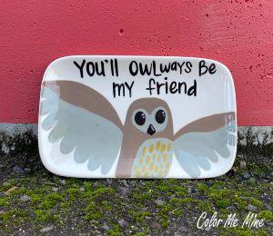 Plano Owl Plate