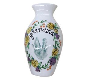 Plano Floral Handprint Vase