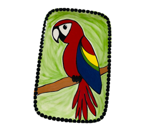 Plano Scarlet Macaw Plate